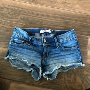 Hollister California denim jean cutoff shorts